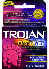 TROJAN PLEASURES FIRE & ICE 3PACK