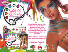 EDIBLE BODY PAINTS 4 PACK BOX