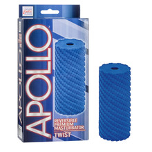 APOLLO REVERSIBLE MASTURBATOR TWIST BLUE