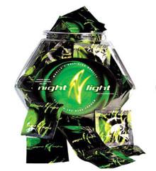 NIGHT LIGHT GLOW CONDOMS 144PC BOWL