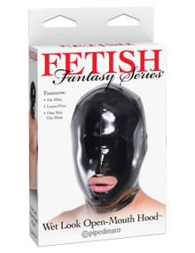 FF WET LOOK OPEN MOUTH HOOD FOR HIM