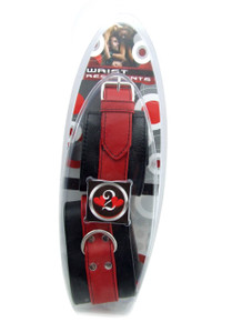 H2H RESTRAINT WRIST SOFT LEATHER RED/BLACK(out 12-15)