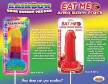 JUMBO GUMMY COCK POP STRAWBERRY