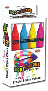 BODYLICIOUS EDIBLE BODY PENS 4PK