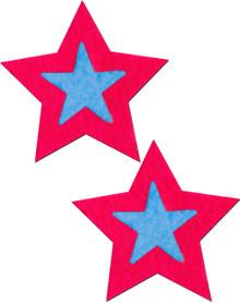 ROCKSTAR HOT PINK STAR W/TURQUOISE CENTER