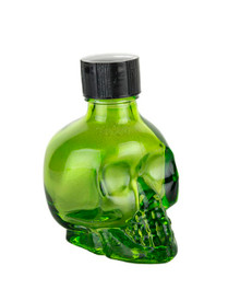 BODY GLITTER GREEN SKULL