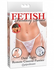 FETISH FANTASY DATE NITE REMOTE CONTROL PANTIES WHITE