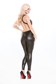 KITTEN & WET LOOK CATSUIT O/S