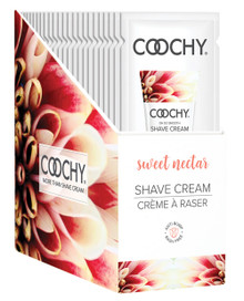 COOCHY SHAVE CREAM SWEET NECTAR FOIL 15 ML 24PC DISPLAY