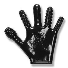 FINGER FUCK TEXTURED GLOVE OXBALLS BLACK