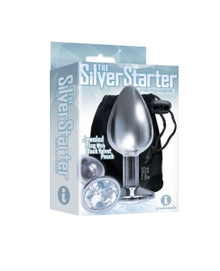 9'S SILVER STARTER BEJEWELED STEEL PLUG DIAMOND(out June)