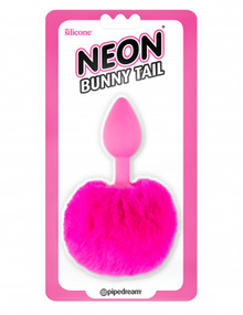 NEON BUNNY TAIL PINK