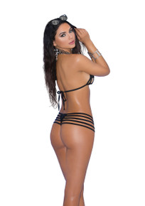 BIKNI 2PC SWIMWEAR SET O/S BLACK