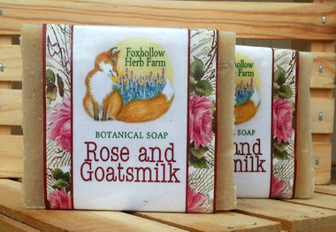 For Rose Lovers! This is a very fragrant Rose Soap with the addition of Goatsmilk.  A favorite at the Local Farmer's Markets.   Ingredients: Olive Oil, Coconut Oil, Water, Sodium Hydroxide, Organic Palm Oil, Fresh Goat Milk, Shea Butter, Fragrance.