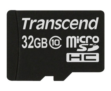 Transcend 32GB MicroSDHC Flash Card Class 10