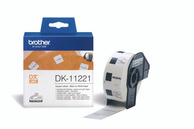 -Brother DK-11221 Square Label 23x23mm (Roll of 1000)