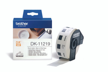 -Brother DK-11219 Round Label 12mm (Roll of 1200)