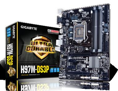GIGABYTE 9 Series H97M-DS3P mATX Motherboard