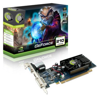 Point of View Nvidia GeForce GT210 Graphics Card PCI-e 512 MB GDDR3 Memory HDMI DVI 1 GPU