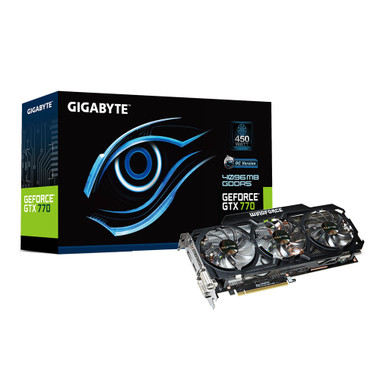 Gigabyte GTX 770 GDDR5-4GB 2xDVI/HDMI/DP OC WINDFORCE 3X Graphics Card GV-N770OC-4GD