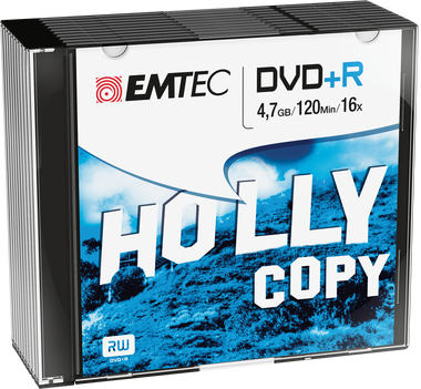 Emtec DVD +R Disc Recordable 4.7GB 16x Slim Jewel Case (10 Pack)