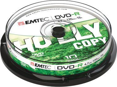 Emtec DVD Disc Recordable 4.7GB 16x Cake Case (10 Pack)