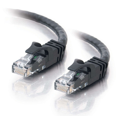 C2G 0.5m Cat6 Booted Unshielded (UTP) Network Patch Cable - Black