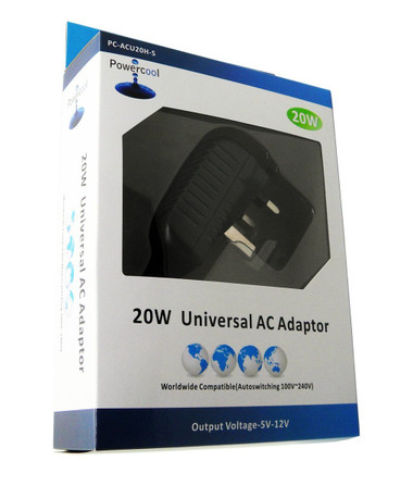 Powercool Universal 20W AC Adaptor with 6 Tips
