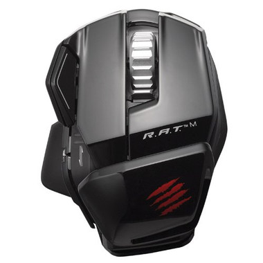 Mad Catz R.A.T.M Bluetooth Gaming Mouse - Gloss Black