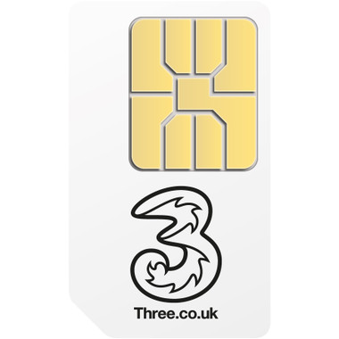 Three Pay As You Go Mobile Broadband Micro-Sim