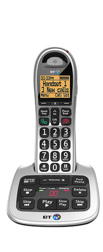 BT BT4500 Big Button Single Digital Cordless Phone with Answer Machine