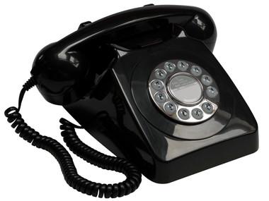 GPO 746 Classic Rotary Telephone - Black