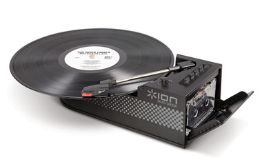ION Duo Deck 2-In-1 Portable Turntable and Cassette Player with USB/Built-In Speakers