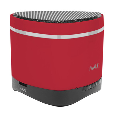 iWalk Sound Angle Mini Rechargeable Bluetooth Speaker - Red (with SD card slot)