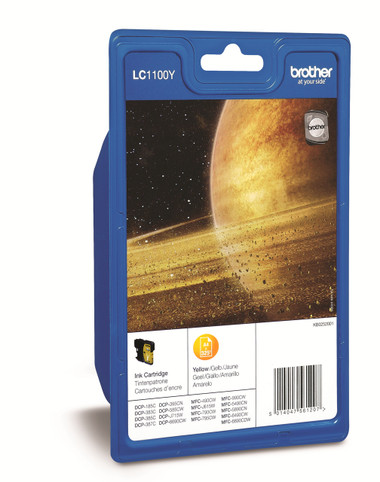 Brother LC1100 Genuine Ink Cartridge - 325 Page - Yellow