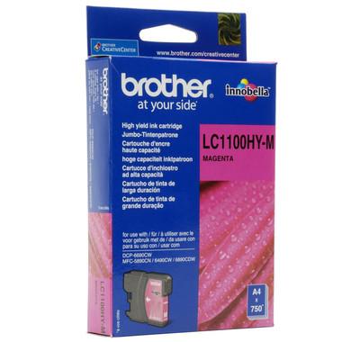 Brother LC1100HYM Genuine High Yield Ink Cartridge - Magenta