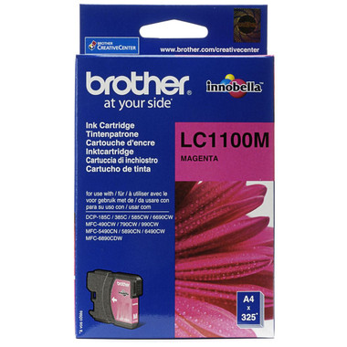 Brother LC1100M Genuine Ink Cartridge - Magenta