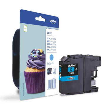 Brother LC-123C Genuine Ink Cartridge - Cyan