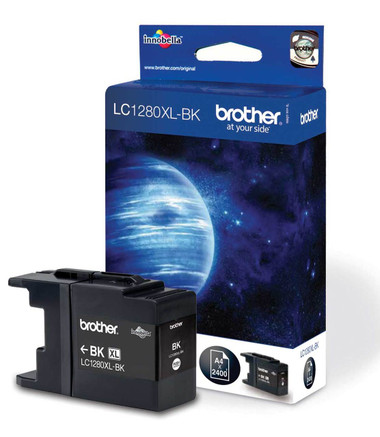 Brother LC1280XLBK Genuine High Capacity Ink Cartridge - Black
