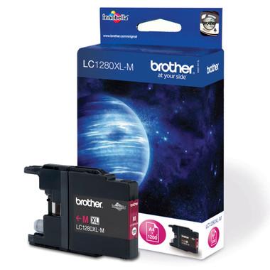 Brother LC1280XLM Genuine High Capacity Inkjet Cartridge - Magenta