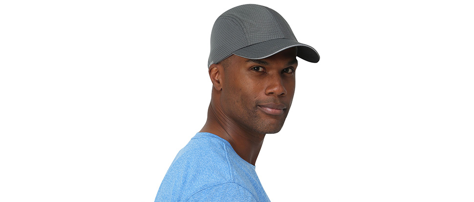 TrailHeads Race Day Performance Running Cap | The lightweight, quick dry, sport cap for men – 5 Colors - charcoal