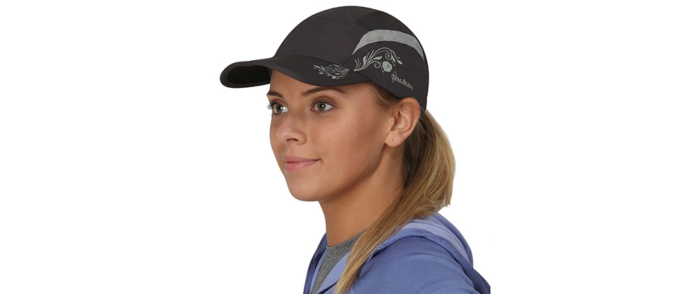 TrailHeads Women's Ponytail Folding Bill Cap - charcoal / grey