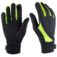 TrailHeads Elements Running Gloves - black / hi-vis