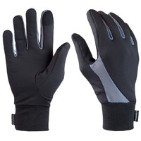 TrailHeads Elements Touchscreen Running Gloves - black / grey