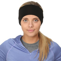 TrailHeads Women's Power Ponytail Headband - black