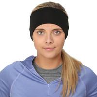 TrailHeads Women's Power Ponytail Headband - black