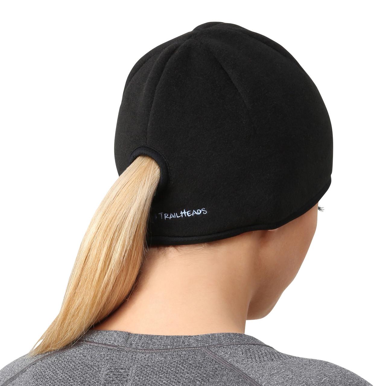 Trailheads Womens Running Ponytail Hat Black Black