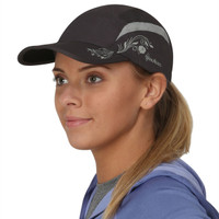 TrailHeads Lightweight Travel Hat | Folding Bill Cap - charcoal / grey (medium/large)