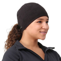 TrailHeads Women's Microfleece Ponytail Hat - solid black