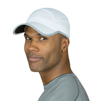 TrailHeads Flashback 360 Reflective Run Cap - white / silver